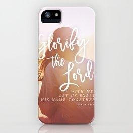 Psalm 34:4 iPhone Case