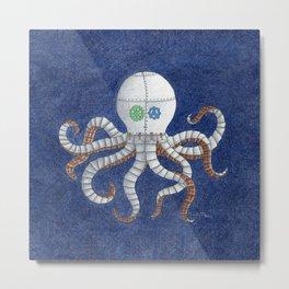 Octopus Steampunk Art Metal Print