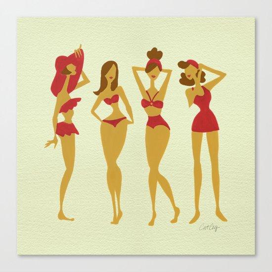 Brunette Beauties Canvas Print