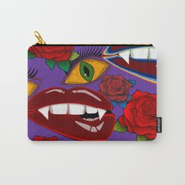 Creepy Girlish Pattern Carry-All Pouch