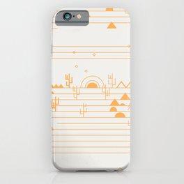 Gold minimalist desert scene iPhone Case