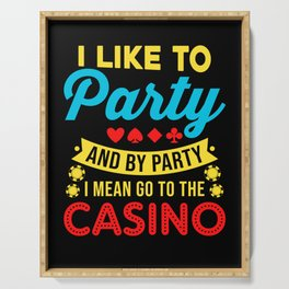 Casino Theme Gifts: Casino Party Serving Tray
