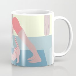 downward dog with a cat Coffee Mug