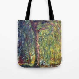 1918-Claude Monet-Weeping Willow-99 x 120 Tote Bag