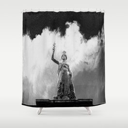 Monument Series: Gravity Angel #4 Shower Curtain