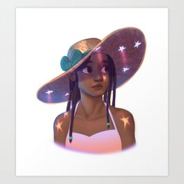 Star Hat Art Print
