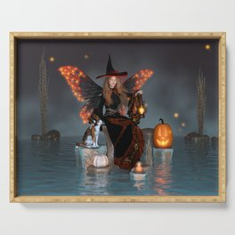Pumpkin Witch Faerie Serving Tray