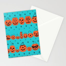 Trick or Treat Smell My Feet- Turquoise Stationery Cards