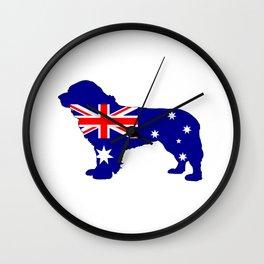 Australian Flag - Newfoundland Dog Wall Clock