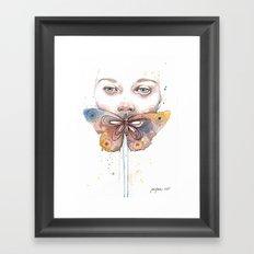 Butterfly, watercolor Framed Art Print