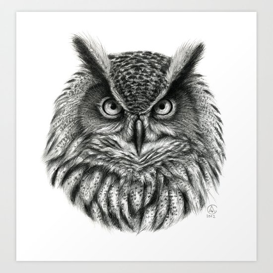 Owl G2012-046bis Art Print