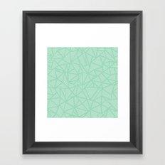 Geo Lines Mint Framed Art Print