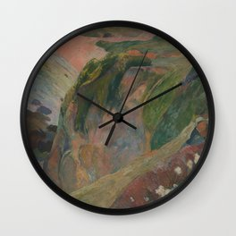 The Flageolet Player on the Cliff Paul Gauguin Wall Clock