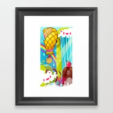 The Great Pineapple Race Framed Art Print