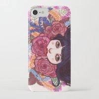 sandra dieckmann iPhone & iPod Cases featuring Sandra by Magali Almada