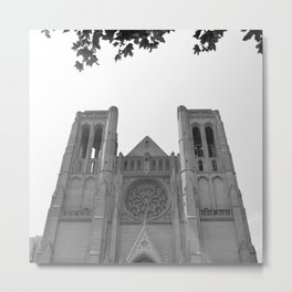 Grace Cathedral Leaf Border Metal Print