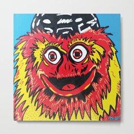 Gritty | Pop Art Metal Print