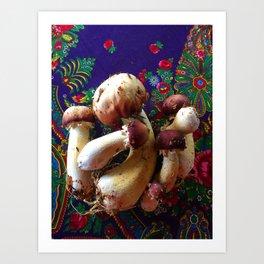 Wild Mushroom Magic Art Print