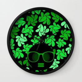 Afro Diva : Green & Black Wall Clock