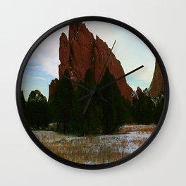 Jutting Peak Wall Clock