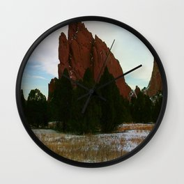 Jutting Peak Wall Clock