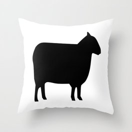 Sheep Silhouette Throw Pillow
