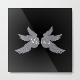 Archangel Michael with Wings Metal Print