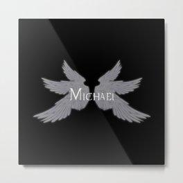 Archangel Michael with Wings Metal Print