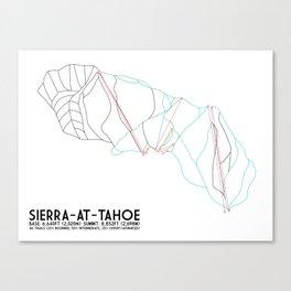 Sierra-At-Tahoe, CA - Minimalist Trail Art Canvas Print