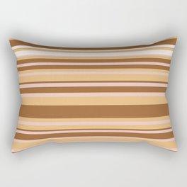 Coffee color stripes Rectangular Pillow