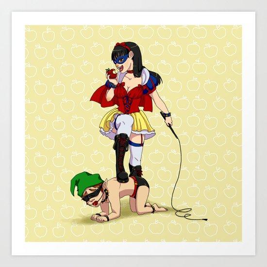 Mistress Snow White Art Print