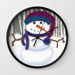 Puffy The Snowman Wall Clock