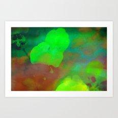 Her Heart Held Many Colors Art Print
