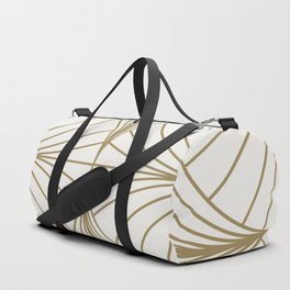 Diamond Series Inter Wave Gold on White Duffle Bag