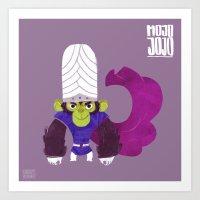 jojo Art Prints featuring Mojo Jojo by Galaxyspeaking