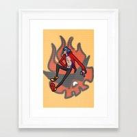 gurren lagann Framed Art Prints featuring gurren lagann - kamina by gutter