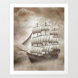 Cloud Ship Art Print