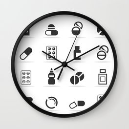 Tablet an icon Wall Clock