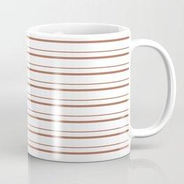 Sherwin Williams Canyon Clay Horizontal Line Pattern on White 3 Coffee Mug