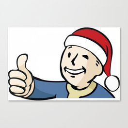 Vaultboy Christmas Canvas Print