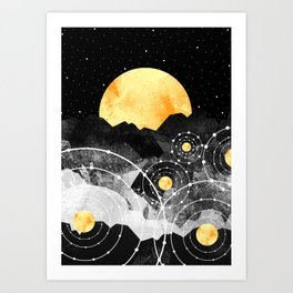 Stars of the galaxy Art Print