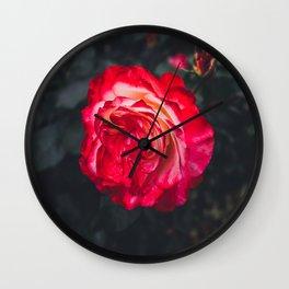 Night Rose 2 Wall Clock