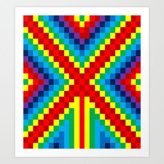 Fuzz Line #4 Art Print