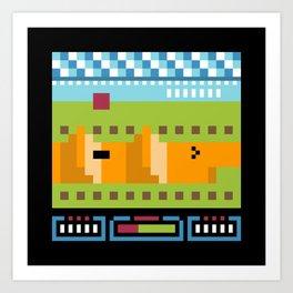 Minimal NES: Excitebike Art Print