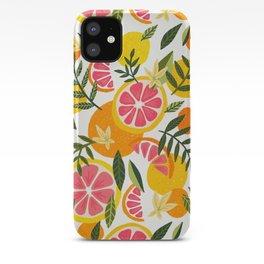 Grapefruit Blooms – Pink & White iPhone Case