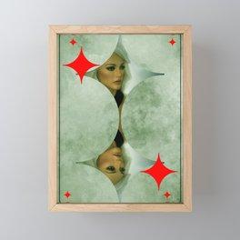 queen of diamonds -2- Framed Mini Art Print