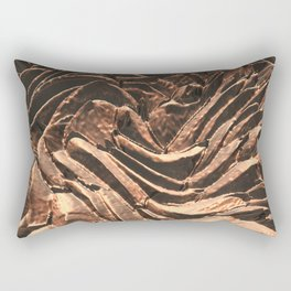 Macro Copper Abstract Rectangular Pillow