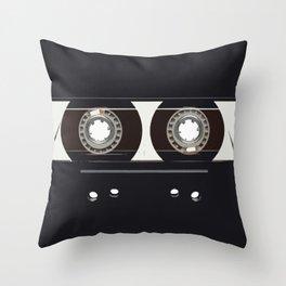 retro old tapes Throw Pillow