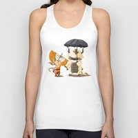 aang Tank Tops featuring Cross over Ghibli Appa  by Minette Wasserman