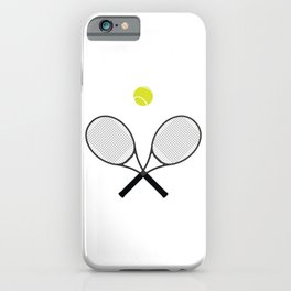 Tennis Racket And Ball 2 iPhone Case